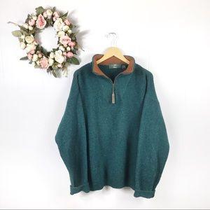 Orvis 1/4 Zip Wool Blend Sweater